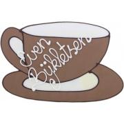 Koffietas even bijkletsen